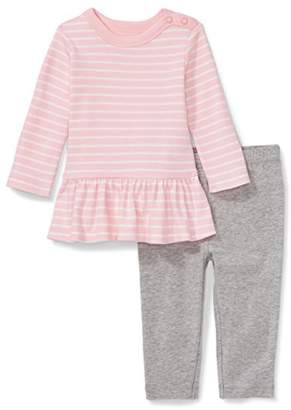 Moon and Back Baby Girls' Organic 2-Piece Dress and Legging Set