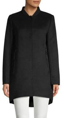Derek Lam 10 Crosby Mixed-Media Baseball Collar Jacket