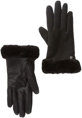 67cee6048b9a Ugg Fur Lined Women S Gloves Style. Women Glove 3 In Rabbit Fur Lined Black  Fuchsia