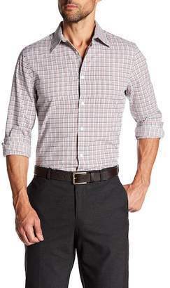 Perry Ellis Checkered Print Slim Fit Shirt
