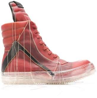 Rick Owens geo basket sneakers