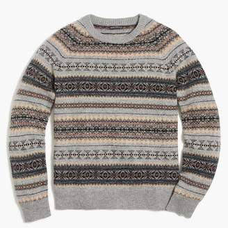 J.Crew Fair isle crewneck sweater in supersoft wool blend