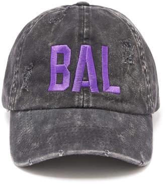 David & Young Baltimore Distressed Black Baseball Hat