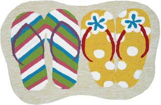Couristan Summer Sandals Hooked Rectangular Indoor/Outdoor Accent Rug