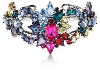 Steve Madden Rhinestone Cluster Cuff Bracelet