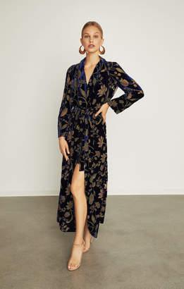 BCBGMAXAZRIA Floral Velvet Burnout Wrap Dress