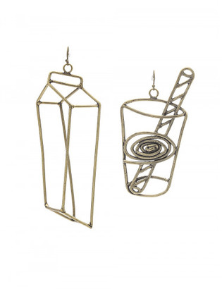 Rosie Assoulin MILKGLASS EARRING SET $695 thestylecure.com