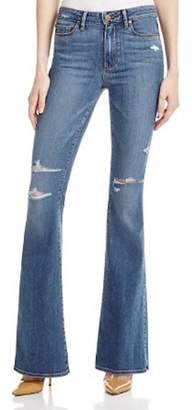 Paige Distressed Flared Jean