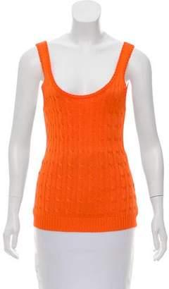Ralph Lauren Silk Sleeveless Knit Top