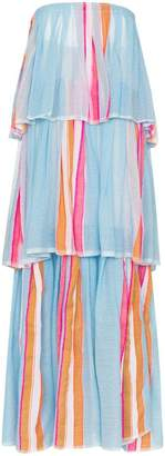 Lemlem Eskedar striped tiered maxi dress