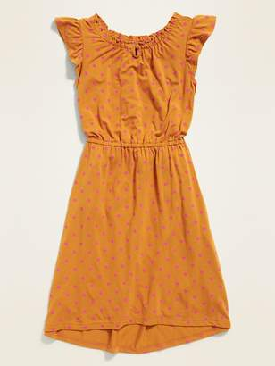 Old Navy Cinched-Waist Flutter-Sleeve Dress for Girls