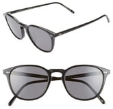 Oliver Peoples Forman L.A. 51mm Polarized Round Sunglasses