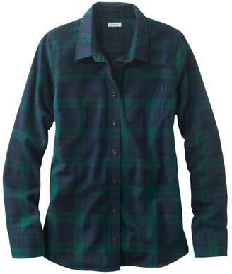 L.L. Bean L.L.Bean Women's Scotch Plaid Flannel Shirt, Relaxed