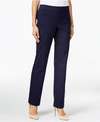JM Collection Pull-On Slim-Leg Pants, Only at Macy's $49.50 thestylecure.com
