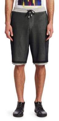 Saks Fifth Avenue x Anthony Davis Mesh Overlay Shorts