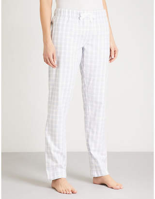 The White Company Gingham cotton-flannel pyjama bottoms