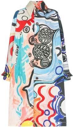 Charles Jeffrey Loverboy painted mural denim overcoat