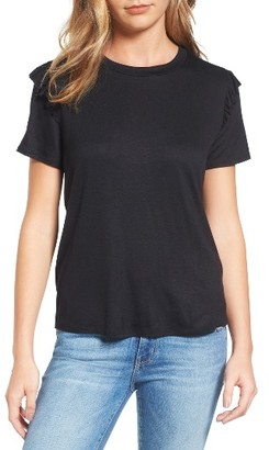 Women's Halogen Ruffle Trim Short Sleeve Tee $39 thestylecure.com
