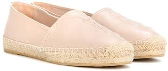 Saint Laurent Leather slip-on espadrilles