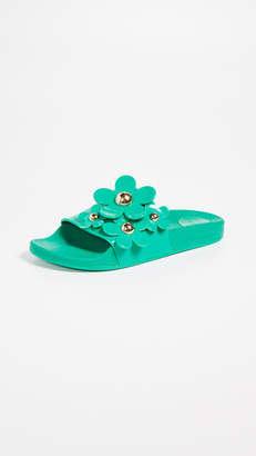 Marc Jacobs Daisy Aqua Slides