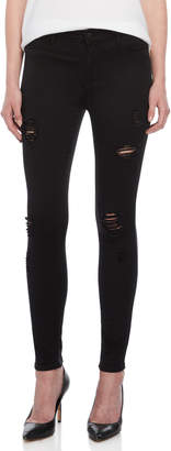 KENDALL + KYLIE Black High-Waisted Distressed Skinny Jeans