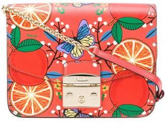 Furla orange printed bag
