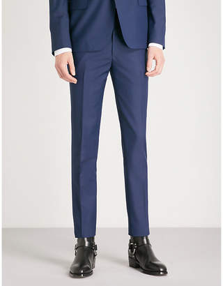 Alexander McQueen Regular-fit straight wool and mohair-blend trousers