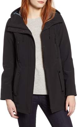 Andrew Marc Bonded Jersey Hooded Parka