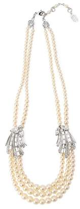 Ben-Amun (ペン アムン) - BEN-AMUN silver crystal side motifs pearl necklace