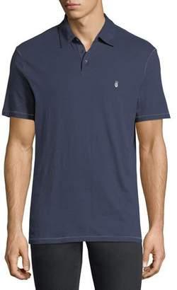 John Varvatos Soft Collar Peace Polo Shirt, Oiled Blue