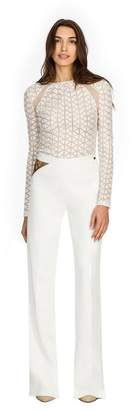 Semsem Norah Long-Sleeve Embroidered Top