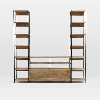 west elm Industrial Modular Media Set With Bookshelves