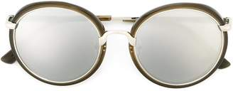 Dries Van Noten Eyewear Linda Farrow contrast frame sunglasses