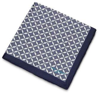 Ted Baker Larch Geo Printed Pocket Square $49 thestylecure.com