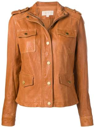 MICHAEL Michael Kors buttoned leather jacket