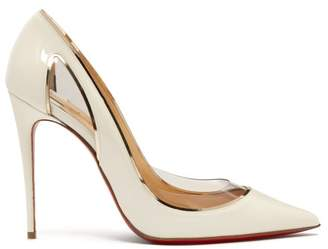 Christian Louboutin Cosmo 554 Patent Leather Pumps - Womens - White