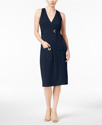 kensie Grommet-Detail Wrap Dress $79 thestylecure.com