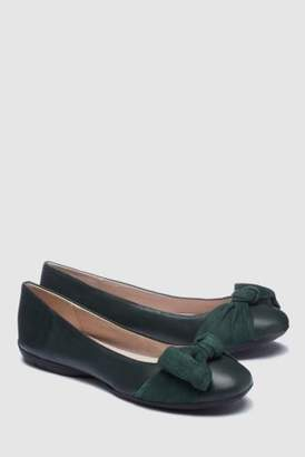Next Womens Black Forever Comfort Bow Ballerinas