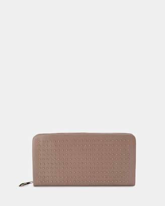 Olga Berg Leni Soft Leather Studded Wallet