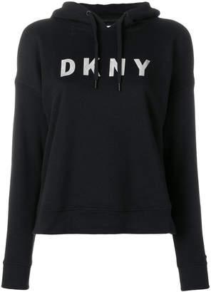 Donna Karan logo hoodie