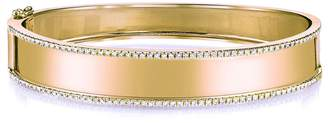 SHAY Name Plate Bangle Bracelet with Diamond Trim