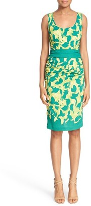 Tracy Reese Print Stretch Silk Sheath Dress $298 thestylecure.com
