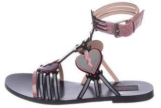 Valentino Loveblade Patent Sandals