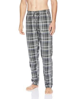 Hanro Men's Long Woven Check Pant