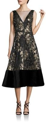 Theia Sleeveless V-Neck Dress $795 thestylecure.com