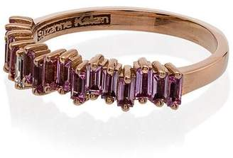 Suzanne Kalan Pink Baguette Sapphire Half Band