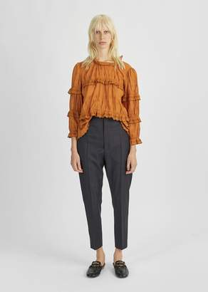 Etoile Isabel Marant Noah Cropped Trouser Midnight