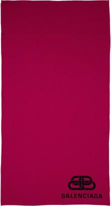 Balenciaga Logo Wool Blanket Scarf