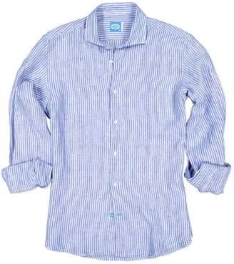 Panareha Corsica Stripes Linen Shirt in Blue