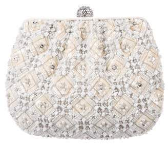 Judith Leiber Beaded Satin Evening Bag